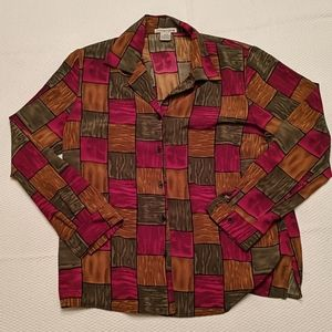 ✨4 FOR $15✨ Vintage color block blouse